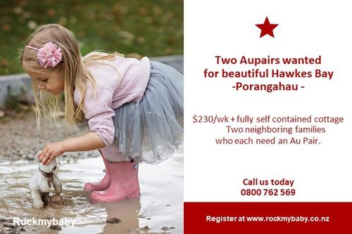 Two Aupairs Wanted In Hawkes Bay